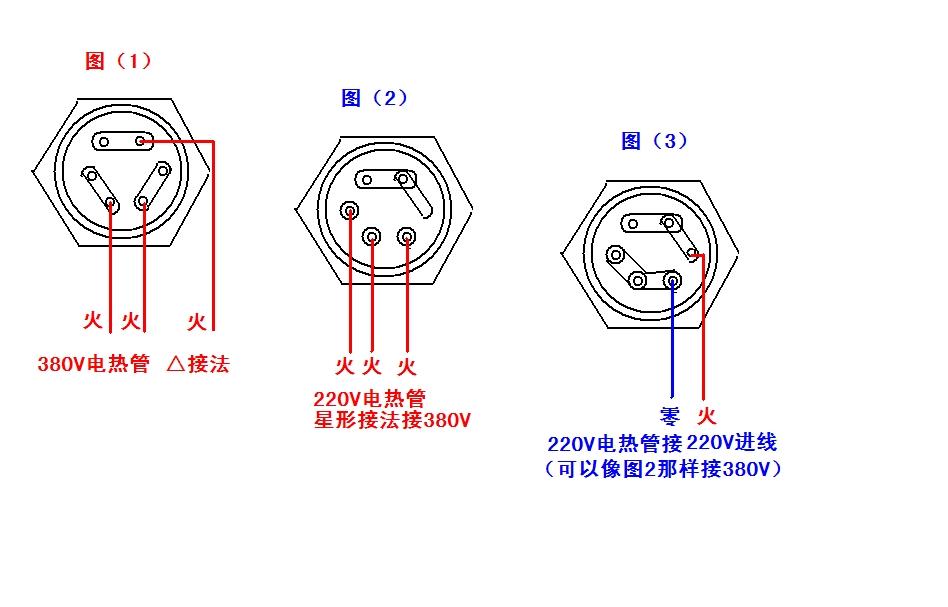 380v蒸飯柜正確接線圖